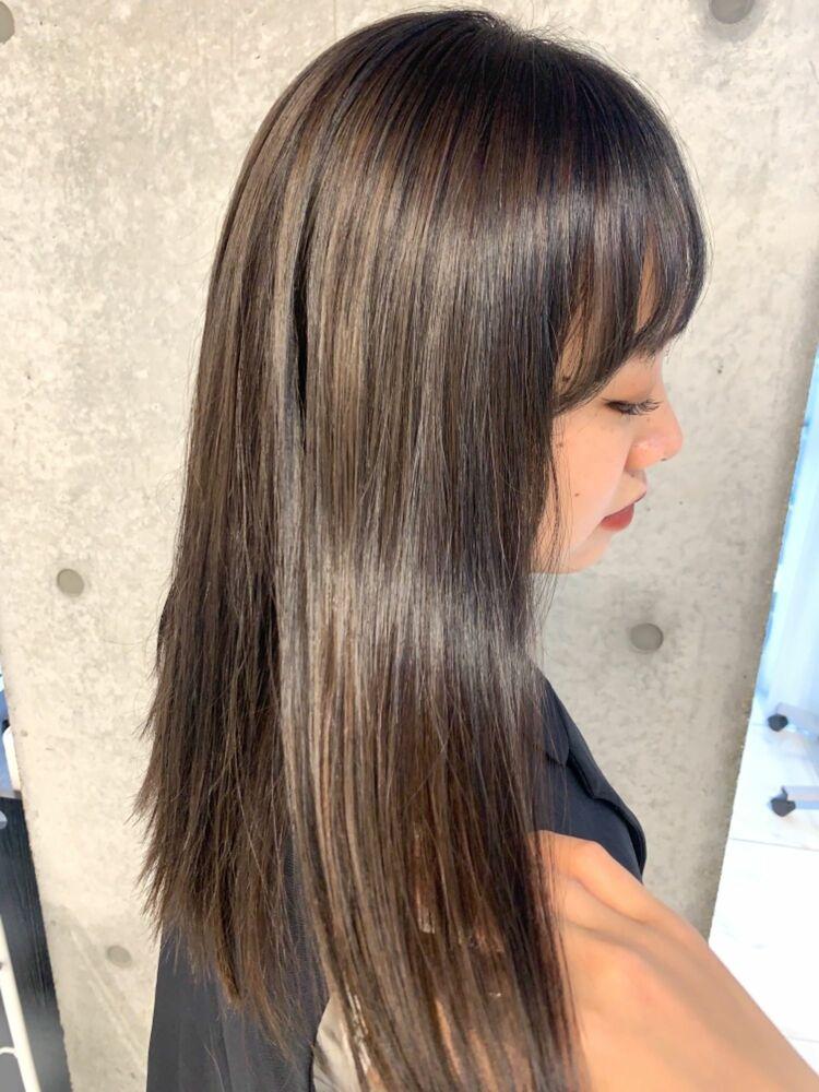 ハイライトとローライトで艶髪の立体感カラー