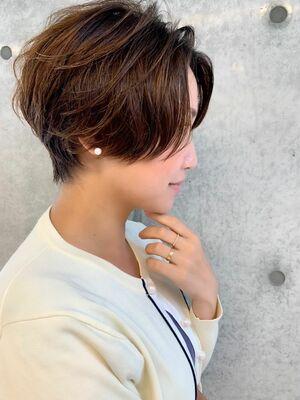 パーマで毛流れをつけた簡単スタイリングショート☆