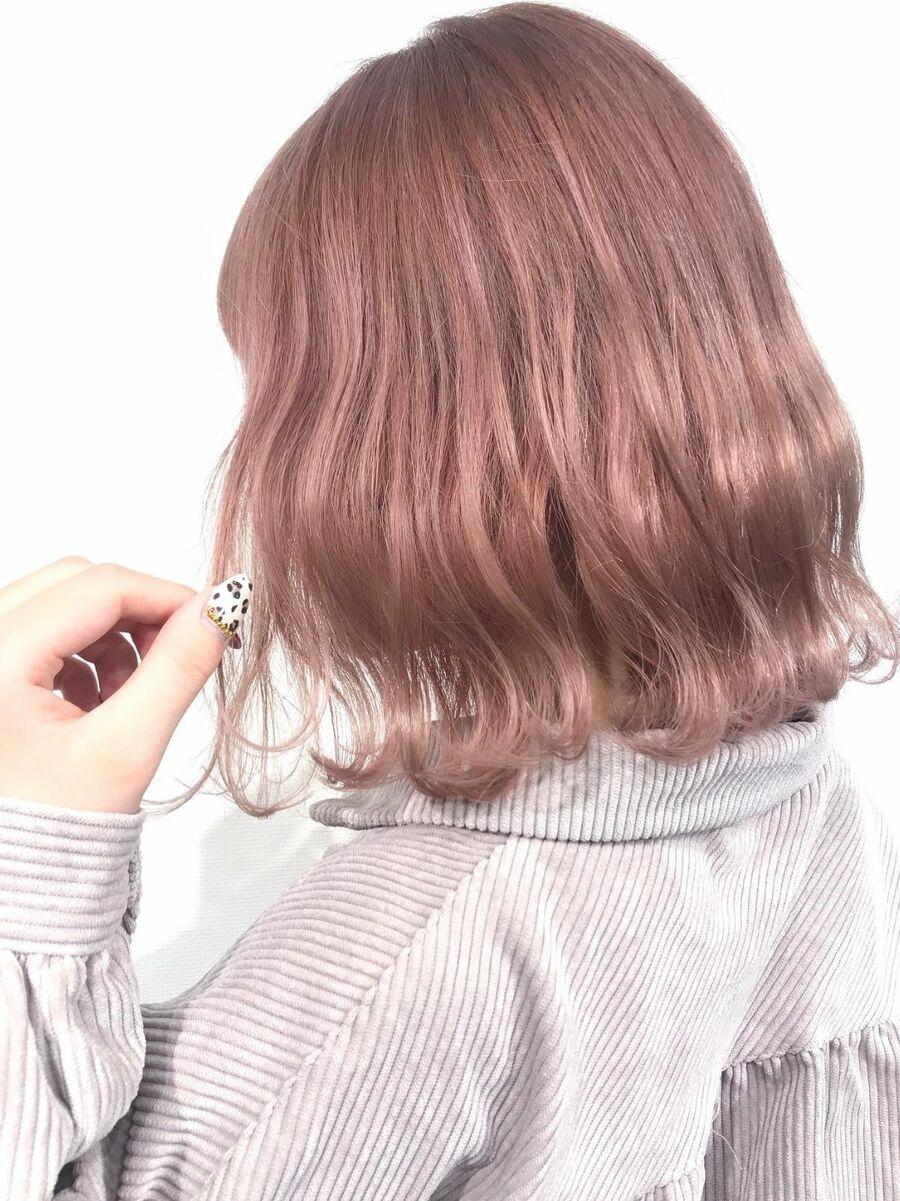ピンクベージュ♡春カラー