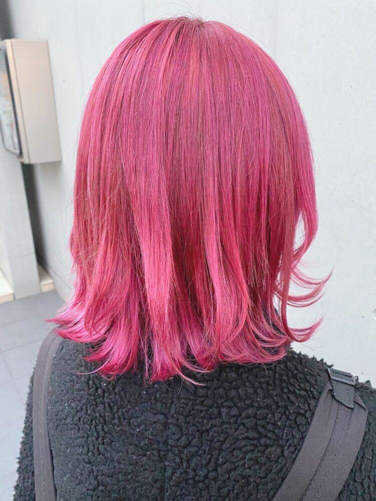 カジュアルピンク★透明感カラー イルミナカラー ブロッサム