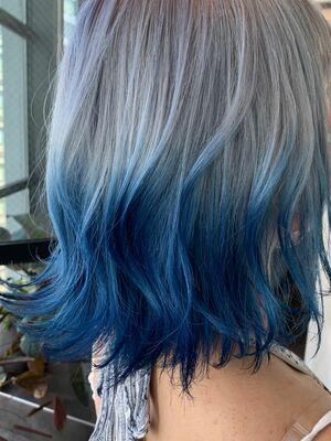 マーメイドカラー ホワイト×ブルー
