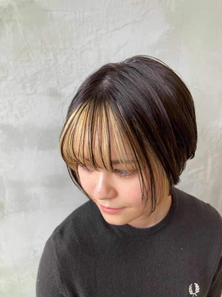 フェイスフレーミング x 前髪ハイライト