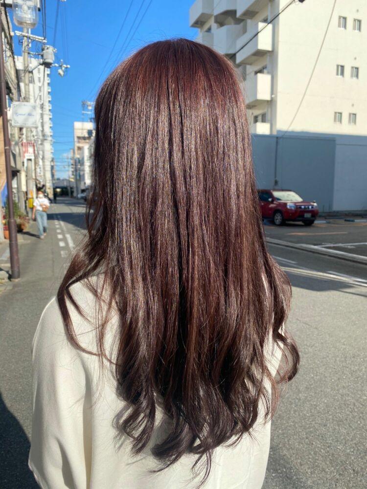 赤色艶髪ロング