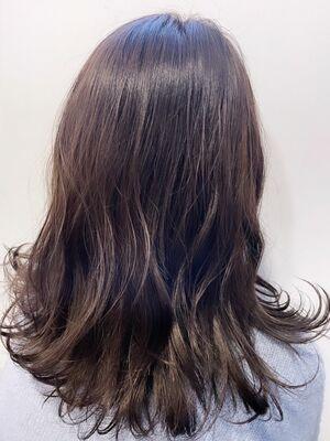 大人かわいい/髪質改善/ラベンダーグレージュ/