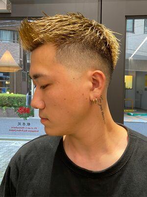 スキンフェード×金髪