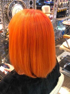 派手髪好きにオススメ オレンジヘア☆