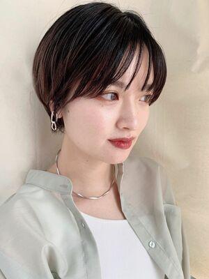 """""""NORA GINZA 佐々木""""シースルーバング黒髪ショート**"""