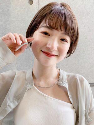 """NORA GINZA 佐々木""顔まわりが可愛い!丸みショート**"