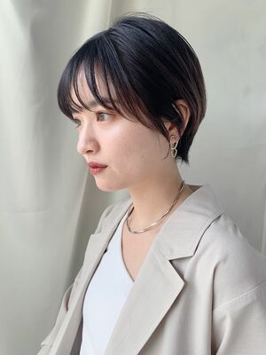 """NORA GINZA 佐々木""ハンサム黒髪シースルーバング**"