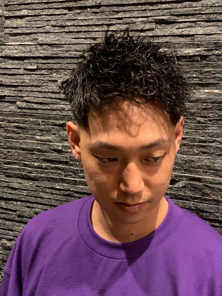 ツイストパーマ×スキンフェード/上野/理容