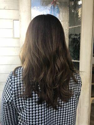 光に当たると透けるミルクティーテディベアカラーハイライト白髪ぼかし40代50代