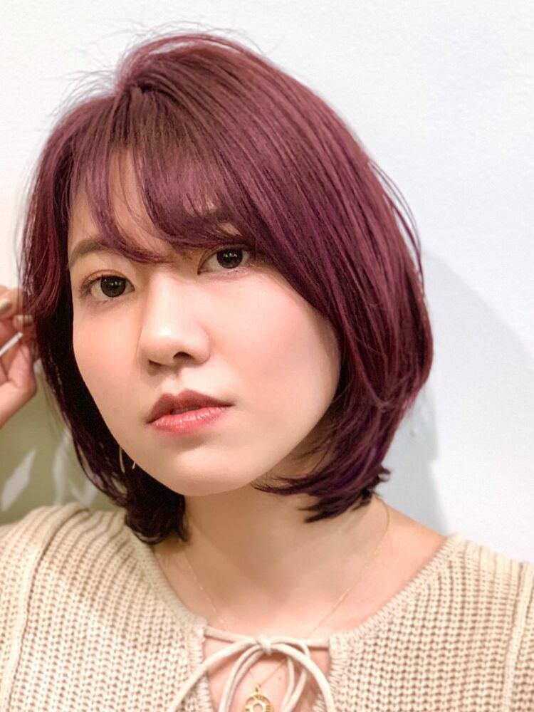 autumn color☆cassis red