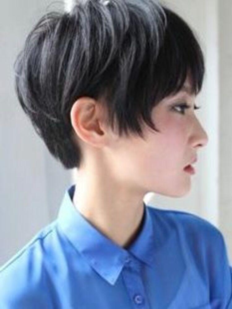 ELENA青山美容室黒髪ショートボブ
