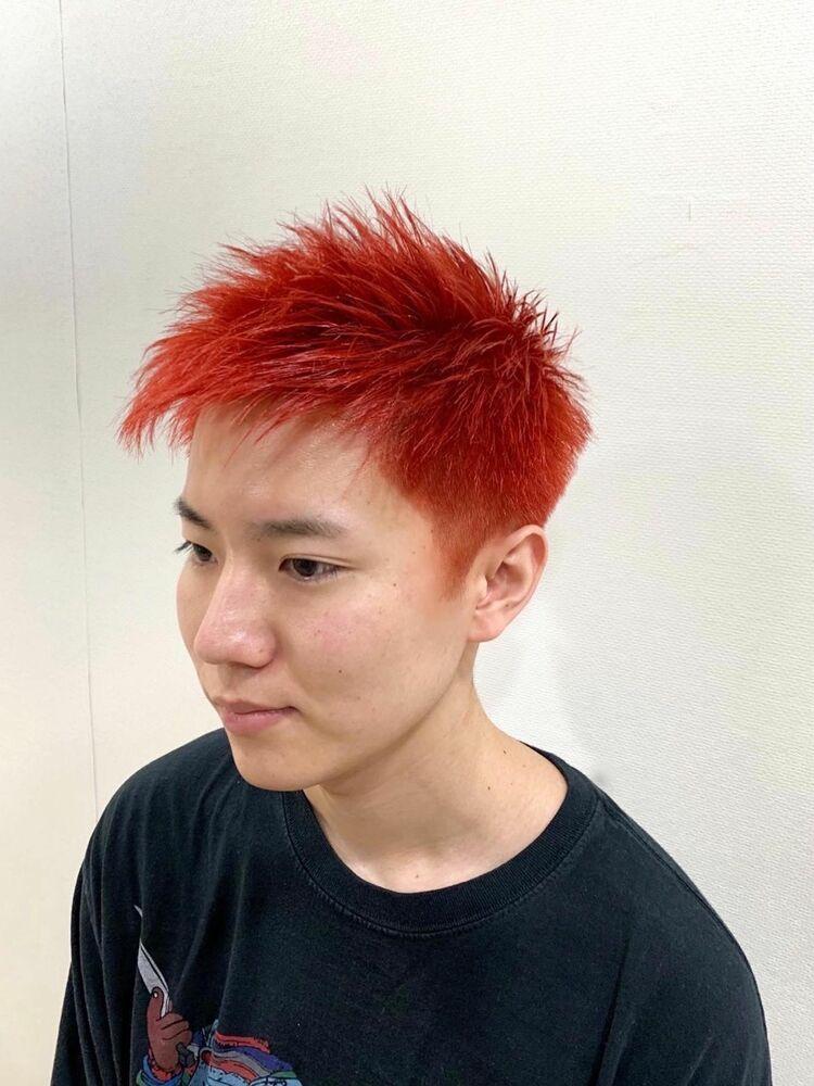 赤髪!スパイキーショートスタイル