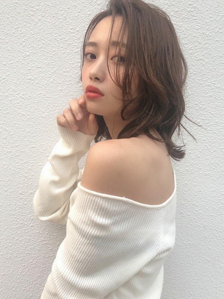 KAYAK渋谷 小室 小顔×愛されミディアム×レイヤー×ひし形×内巻き