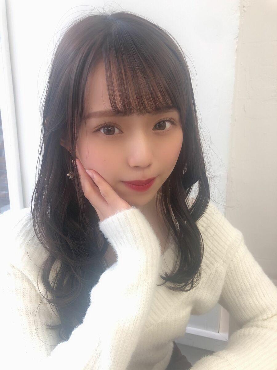 KAYAK渋谷 小室 小顔×愛されロング×レイヤー×ひし形×外巻き×シースルバング