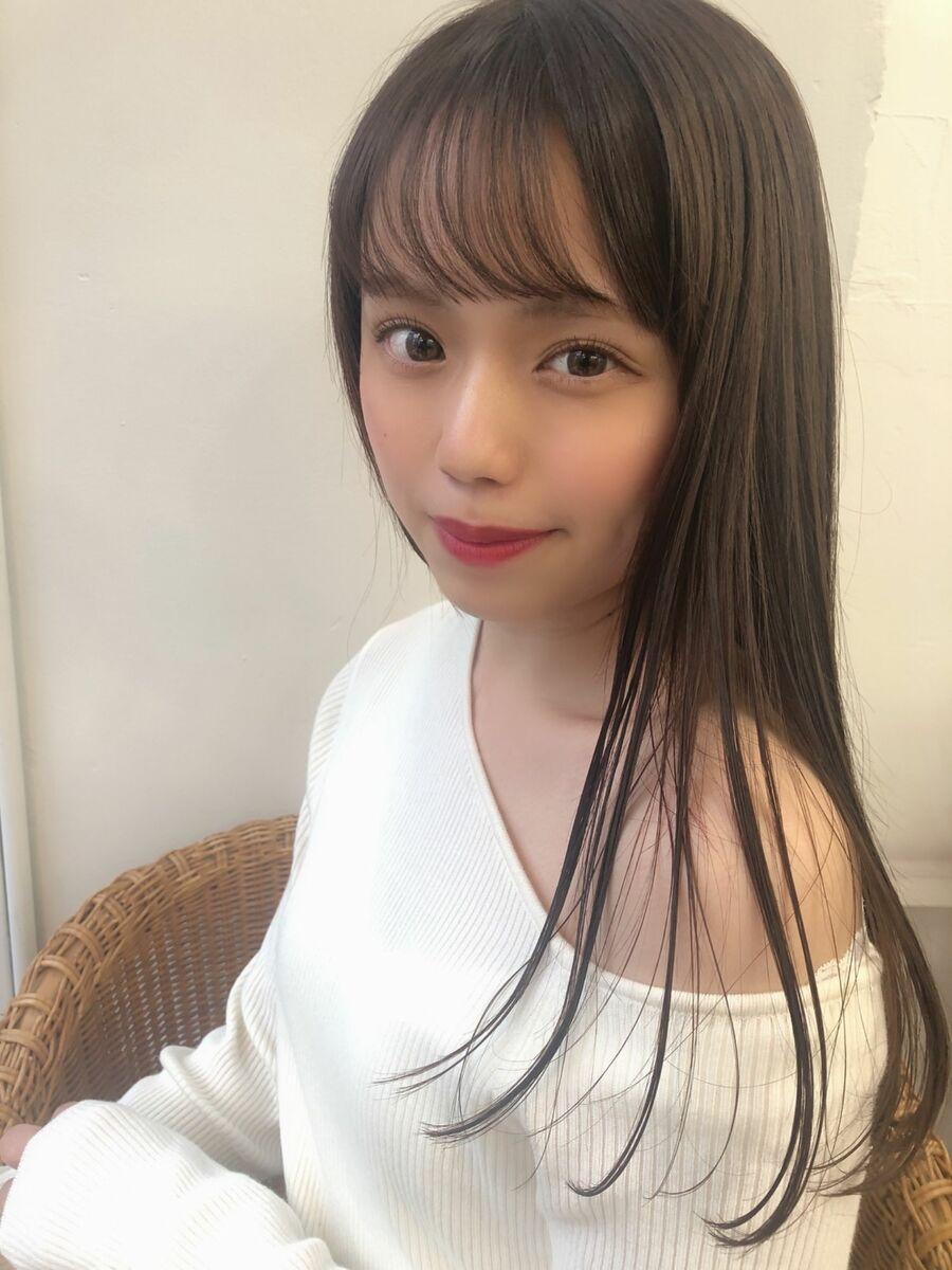 KAYAK渋谷 小室 小顔×愛されロング×レイヤー×ひし形×内巻き×巻き髪×シースルバング