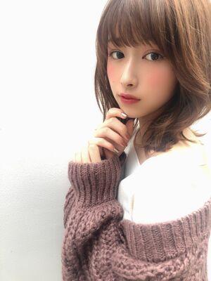 KAYAK渋谷 小室里奈 前髪あり×小顔×シースルバング×ひし形×大人可愛い 渋谷駅徒歩3分