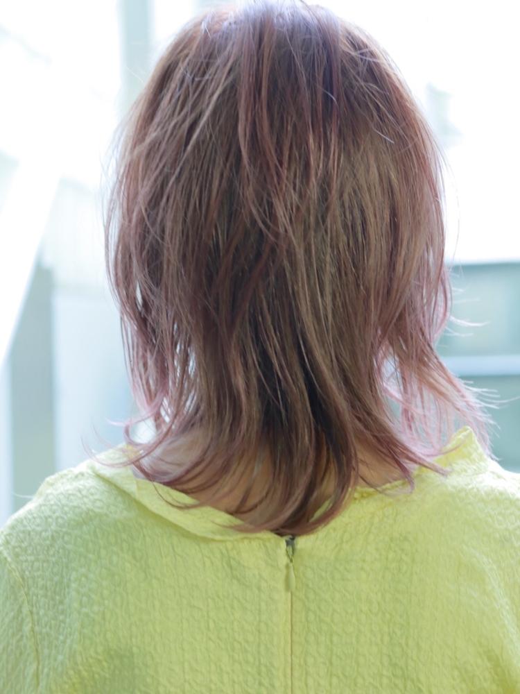 マッシュウルフでふんわり❤︎大人可愛いミディアムヘア