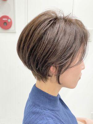 [青山 フリーランス 中嶋洋平]前髪なしのくびれハンサムショート (お客様を撮りました)