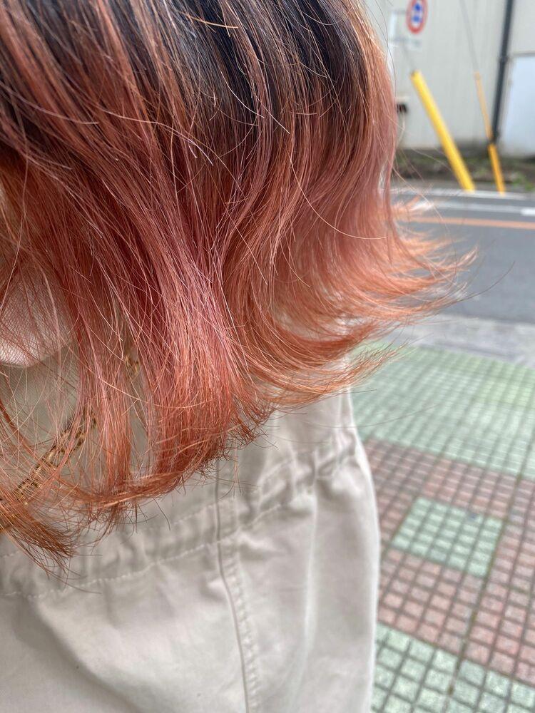裾カラー(パステルオレンジ🍊)