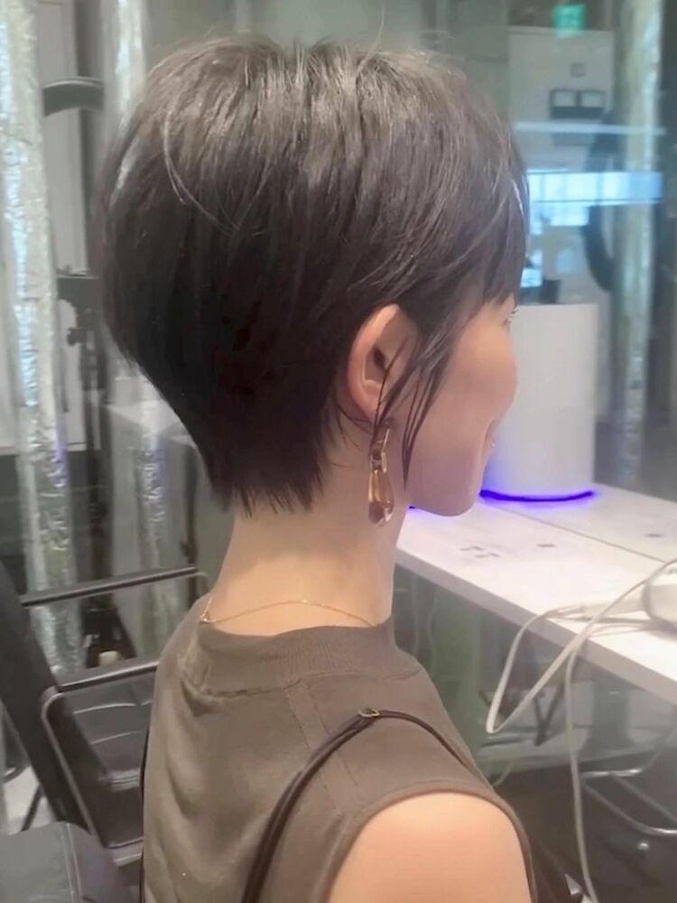ショートヘア/ショートボブ/カラー/ハイライト/30代/40代/50代/パーマ/ボブ/前髪/
