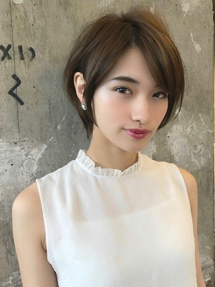 30代、40代  広末涼子さん風大人ショートヘア(小顔ひし形シルエット)
