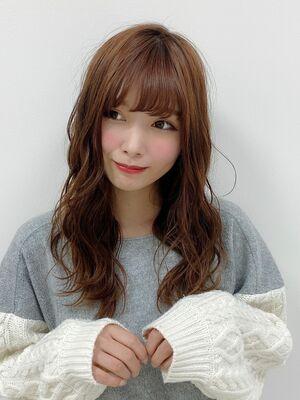 人気NO.1★輪郭カバー!小顔見えさふんわり無造作カール