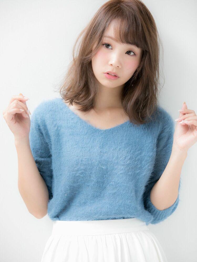 代30代☆大人かわいい小顔外無造作シースルーバング♪担当 戸田