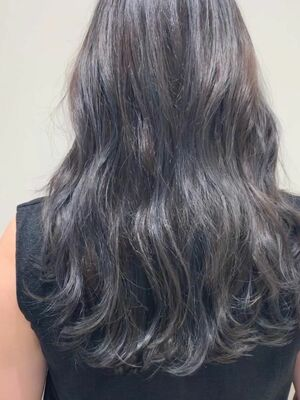透明感カラーハイライト髪質改善トリートメント