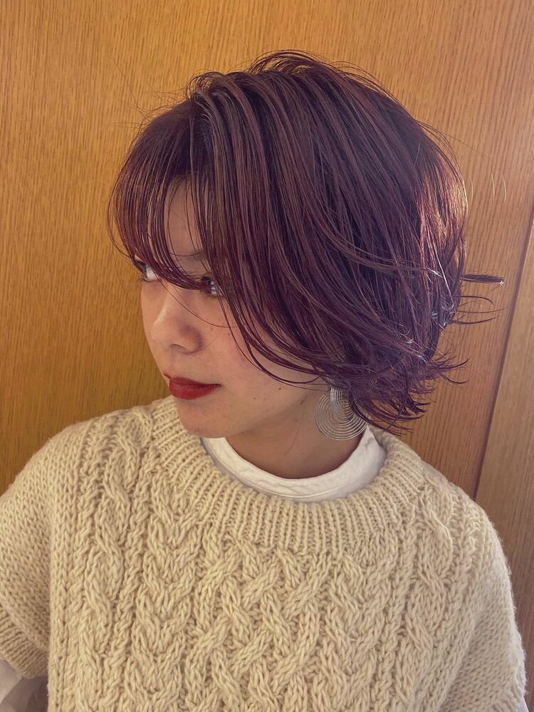 前髪カットもピンクバイオレット!