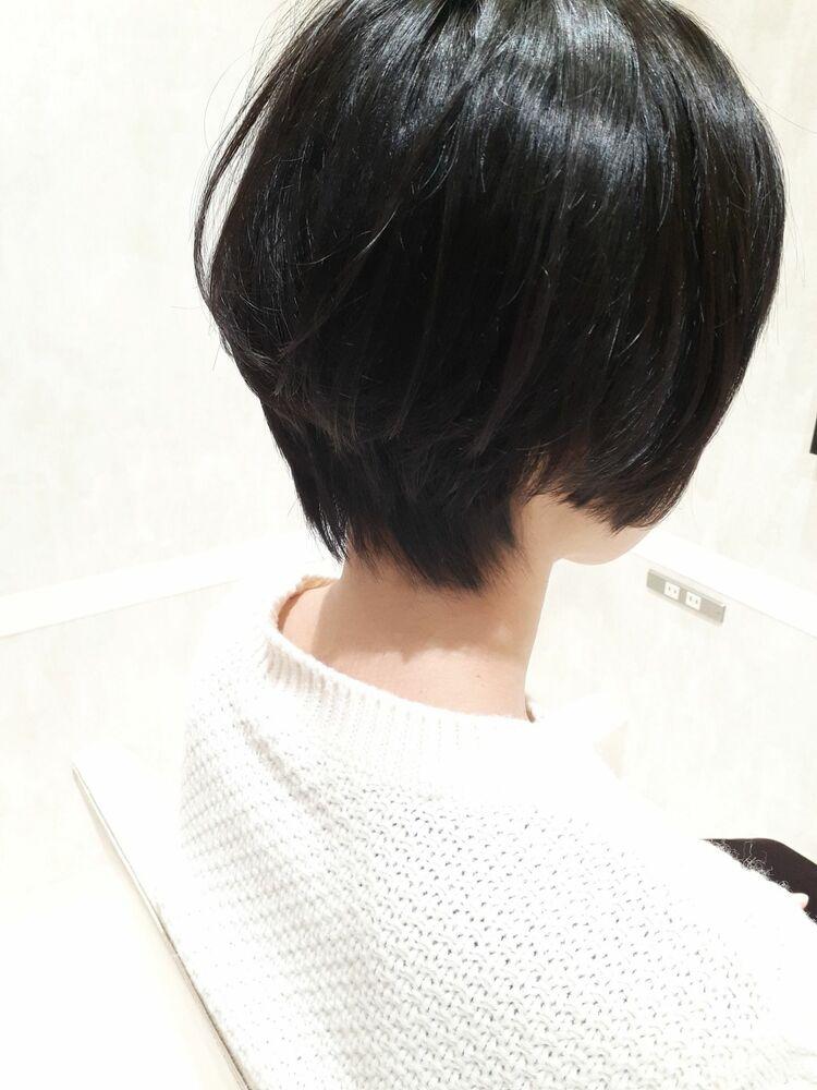 K-two岸 ひし形ショートカットで小顔を叶える 「表参道渋谷/ボブ&ショートカット」
