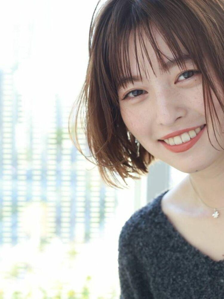 K-two岸 切りっぱなしボブで小顔を叶える 「渋谷渋谷駅/ボブカット&ショートカット」