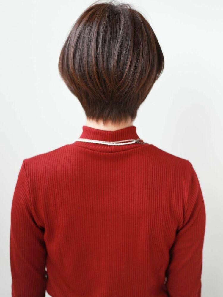 K-two岸 ひし形ショートカットの小顔カット 「渋谷渋谷駅/ショートカット&ボブカット」