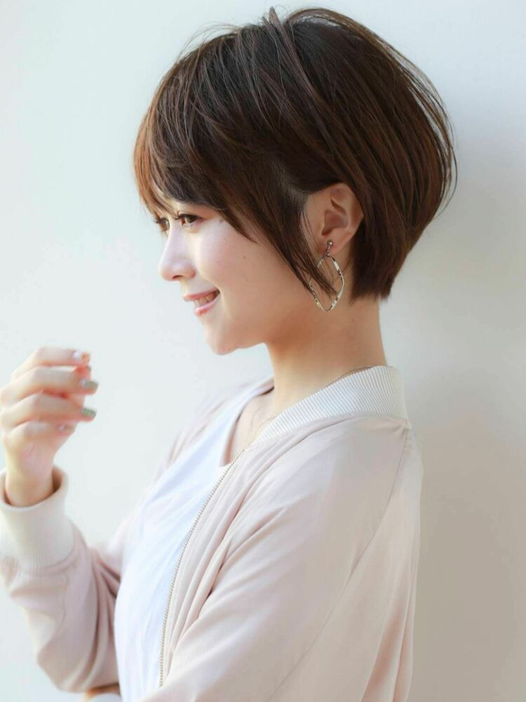 K-two岸 ひし形ショートカットの小顔カット 「渋谷渋谷駅/ボブカット&ショートカット」