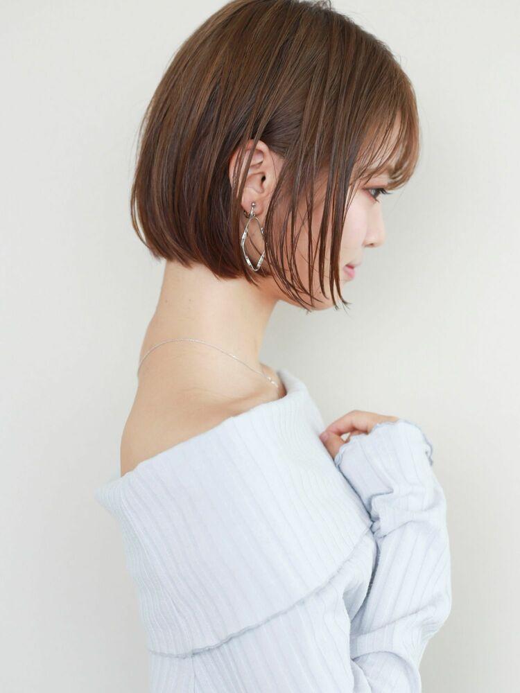 STAR TOKYO岸 切りっぱなしボブカットの小顔カット「渋谷美容室/ボブカット&ショートカット」