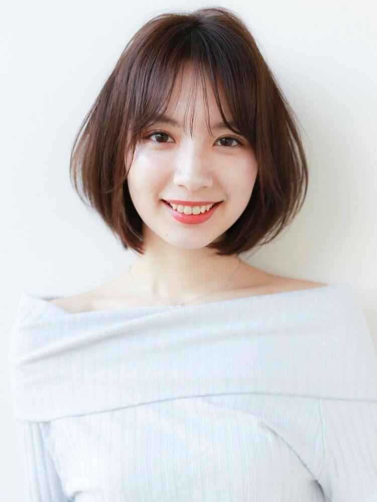 K-two岸 女性らしいひし形ボブカットの小顔カット 「渋谷渋谷駅/ボブカット&ショートカット」