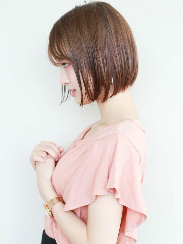 STARTOKYO切りっぱなしボブカットの小顔カット「渋谷美容室/ボブカット&ショートカット」