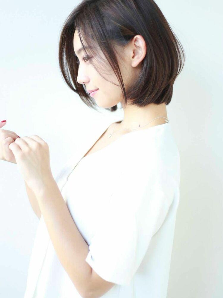 STAR TOKYO岸ひし形ボブカットの小顔カット「渋谷渋谷駅/ボブカット&ショートカット」