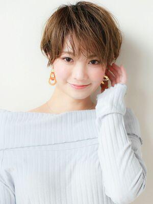 STAR TOKYO岸 ひし形ショートカットの小顔カット「渋谷美容室/ボブカット&ショートカット」
