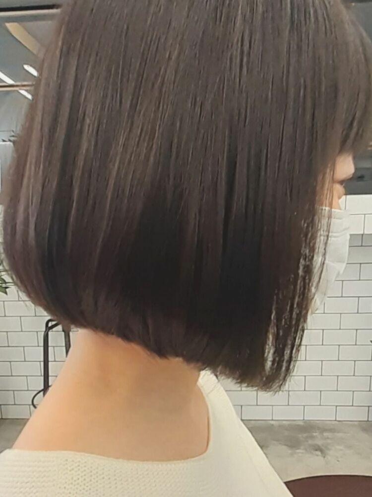 STAR TOKYO切りっぱなしボブカットの小顔カット「渋谷渋谷駅/ボブカット&ショートカット」