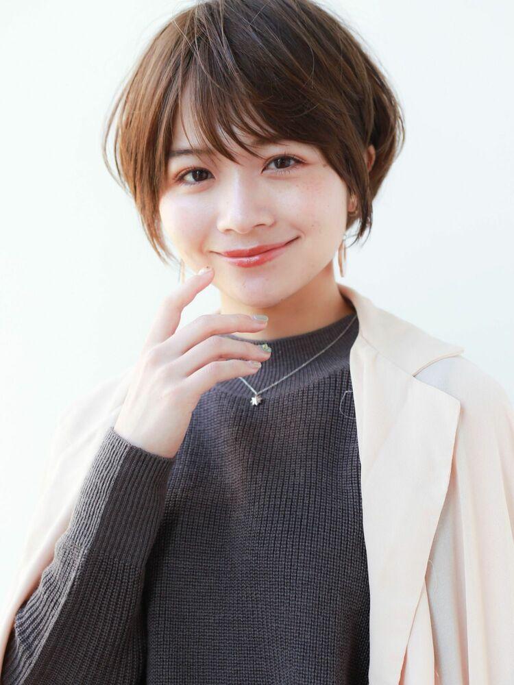 STARTOKYO岸 ひし形ショートカットの小顔カット「渋谷美容室/ボブカット&ショートカット」