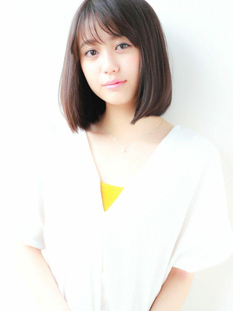 STAR TOKYO切りっぱなしボブカットの小顔カット「渋谷美容室/ボブカット&ショートカット」