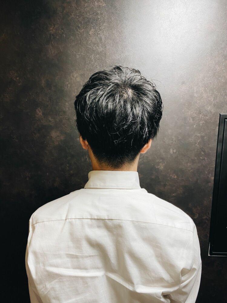 マッシュ×パーマ/神田/理容室
