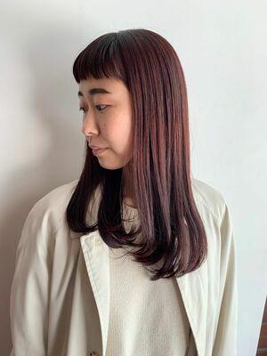 春ピンクでつや髪