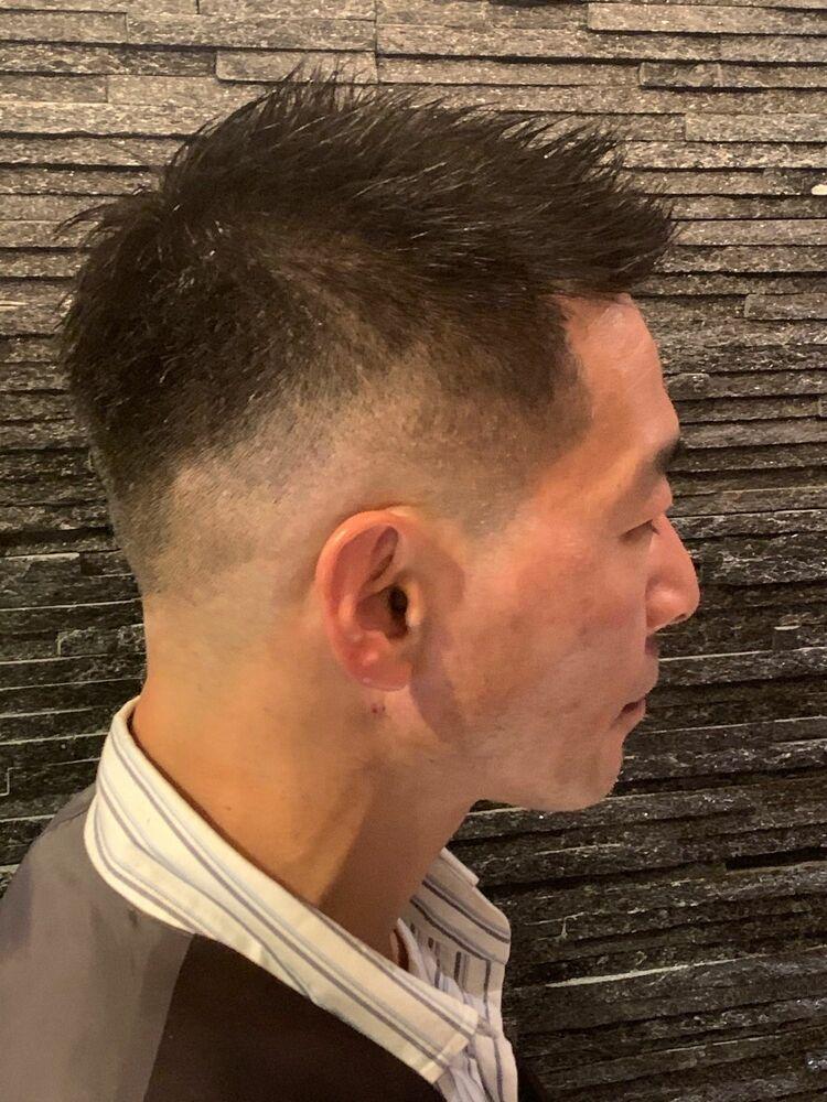 直毛の方必見。スキンフェードスタイル。ヒロ銀座/地域/理容室