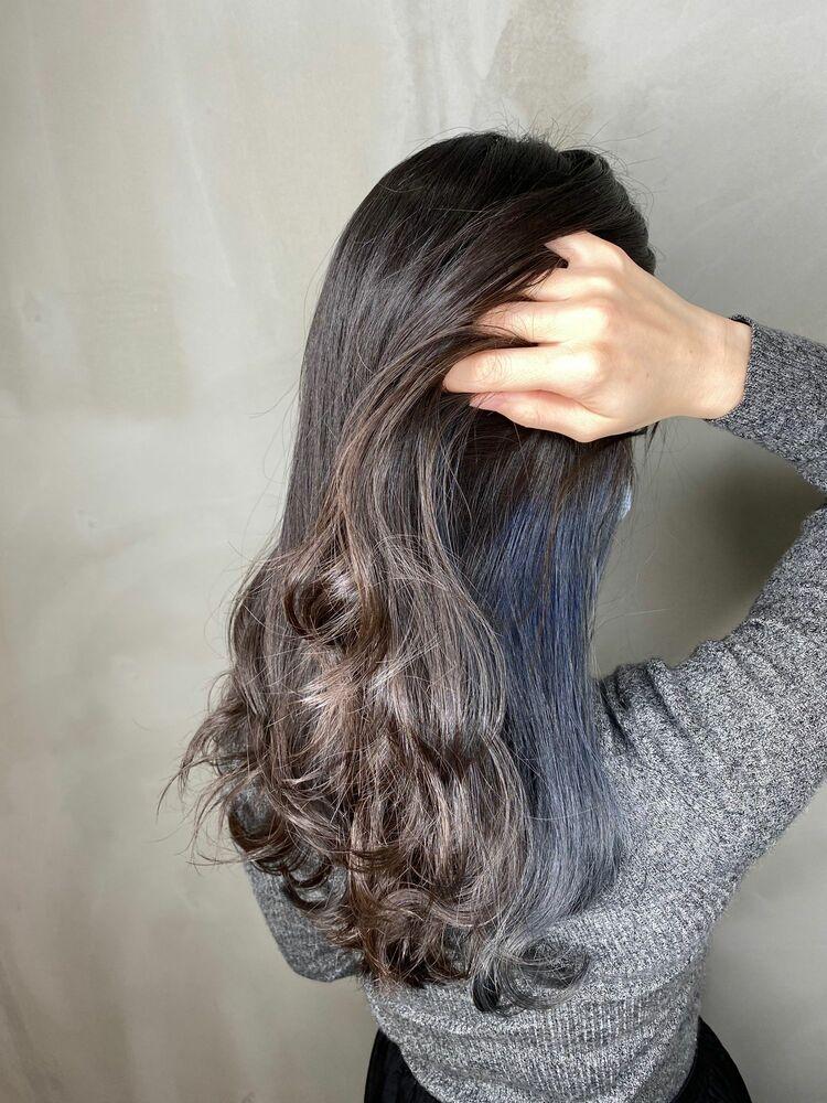 インナーカラー☆ブルーブラック