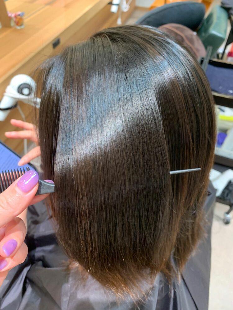 髪質改善トリートメント付き縮毛矯正で憧れ美髪