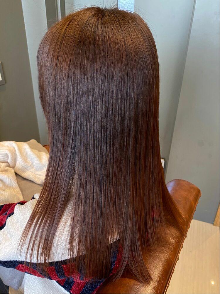 ピンクベージュ 艶髪 10トーン