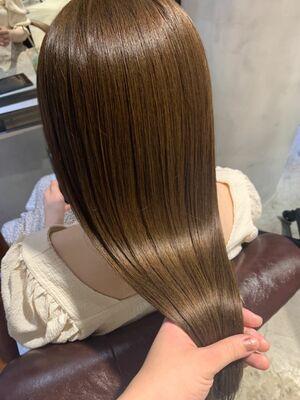 艶髪×透け感カラー